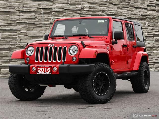 2016 Jeep Wrangler Unlimited Sahara (Stk: L2001A) in Welland - Image 1 of 23