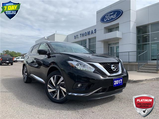 2017 Nissan Murano Platinum (Stk: T0170A) in St. Thomas - Image 1 of 30
