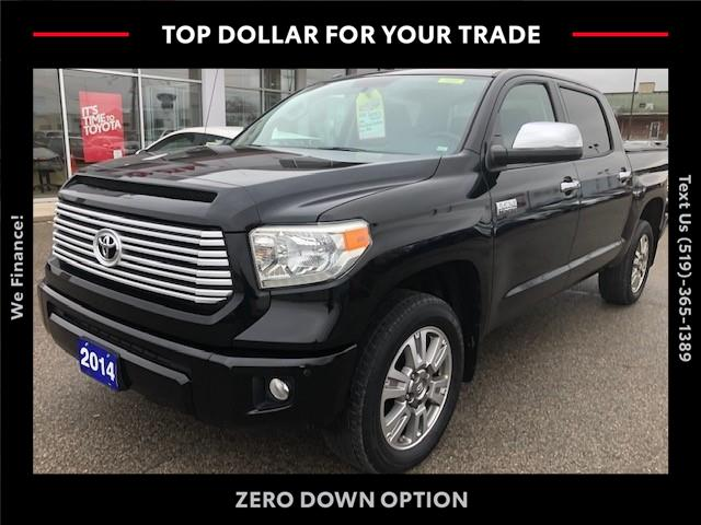 2014 Toyota Tundra Platinum 5.7L V8 (Stk: 43077A) in Chatham - Image 1 of 11