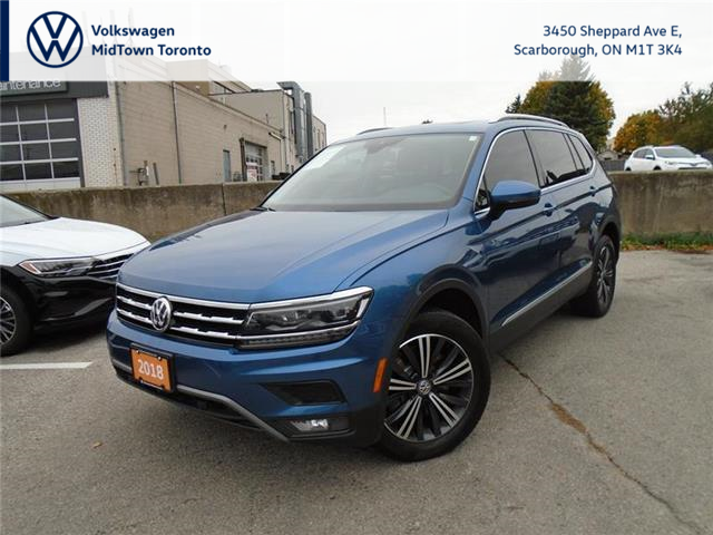 2018 Volkswagen Tiguan Highline (Stk: W1953A) in Toronto - Image 1 of 21