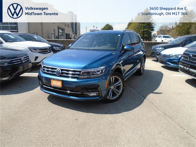 2018 Volkswagen Tiguan Highline (Stk: W2234A) in Toronto - Image 1 of 22