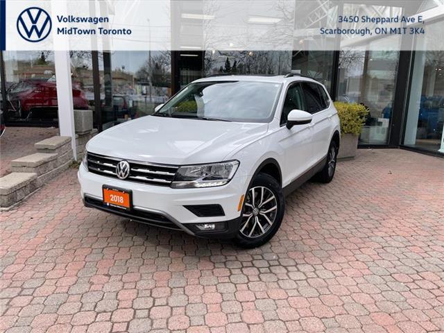 2018 Volkswagen Tiguan Comfortline (Stk: W2137A) in Toronto - Image 1 of 18