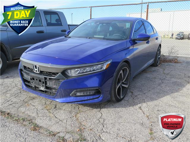 2019 Honda Accord Sport 2.0T (Stk: 96198) in St. Thomas - Image 1 of 18
