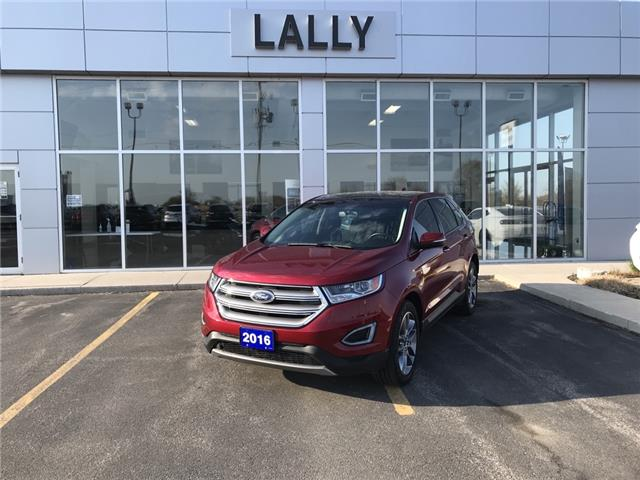 2016 Ford Edge Titanium AWD   Leather interior   Power sunroof (Stk: 00543A) in Tilbury - Image 1 of 16