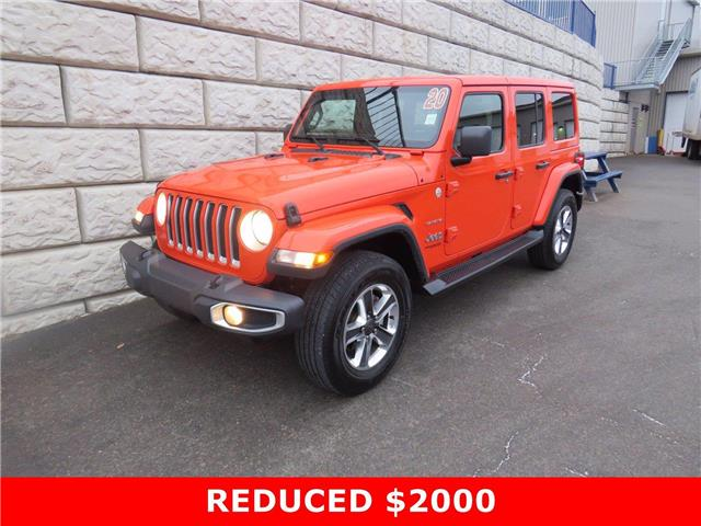 2020 Jeep Wrangler Unlimited Sahara $150 per week taxes incl $0 Down (Stk: D01224P) in Fredericton - Image 1 of 17