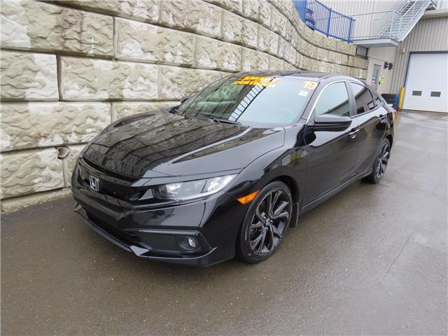 2019 Honda Civic Sedan Sport $75/wk taxes and fees included (Stk: D10684A) in Fredericton - Image 1 of 21