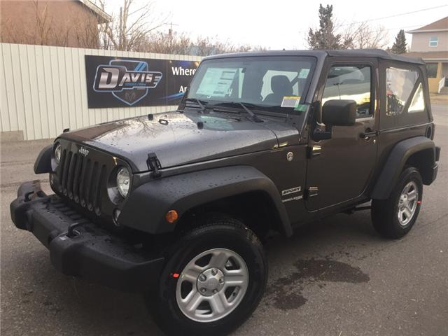 2018 Jeep Wrangler JK Sport (Stk: 11950) in Fort Macleod - Image 1 of 15