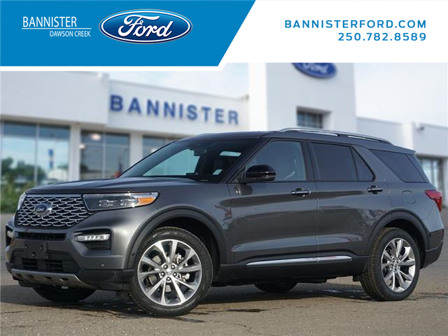 2021 Ford Explorer Platinum (Stk: T210050) in Dawson Creek - Image 1 of 22