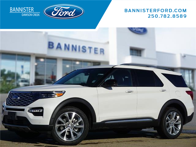 2021 Ford Explorer Platinum (Stk: S210075) in Dawson Creek - Image 1 of 21