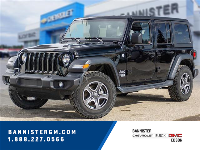 2019 Jeep Wrangler Unlimited Sport (Stk: 21-049A) in Edson - Image 1 of 17