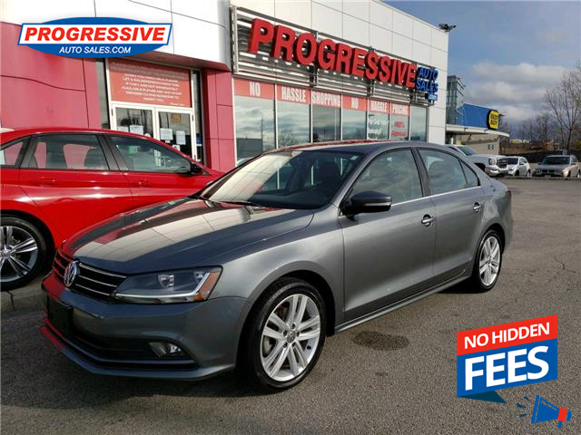 2017 Volkswagen Jetta 1.8 TSI Highline (Stk: HM310120) in Sarnia - Image 1 of 25