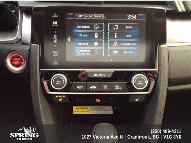 2018 Honda Civic Touring (Stk: H01445) in North Cranbrook - Image 12 of 20