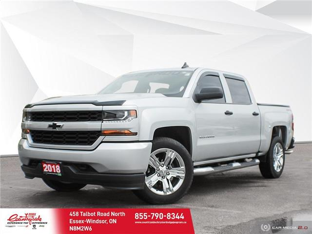 2018 Chevrolet Silverado 1500 Silverado Custom (Stk: 608921) in Essex-Windsor - Image 1 of 30