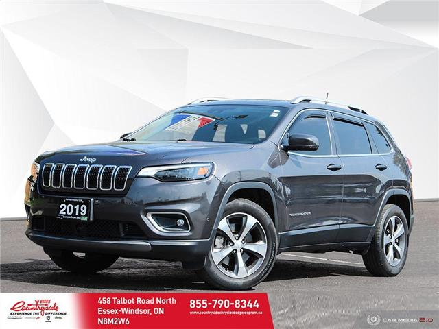 2019 Jeep Cherokee Limited (Stk: 61075) in Essex-Windsor - Image 1 of 30
