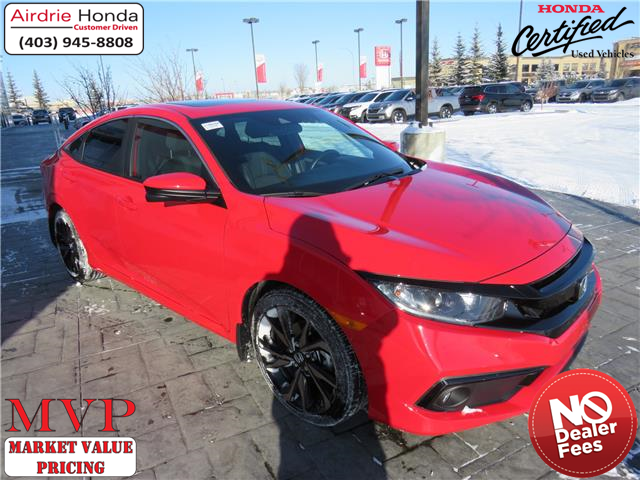 2019 Honda Civic Sport (Stk: 210090A) in Airdrie - Image 1 of 32