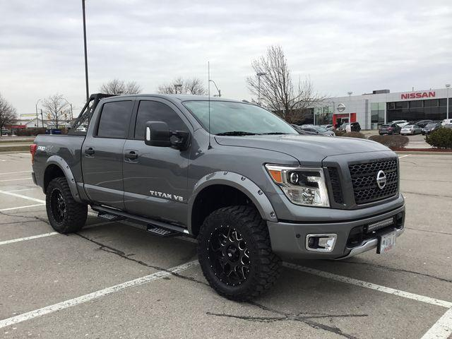 "Nissan Titan Lease >> 2018 Nissan Titan PRO-4X $441 Bi-Weekly 0% OAC for 84 Months! 4"" Lift Kit, 20x9"" LRG Wheels ..."