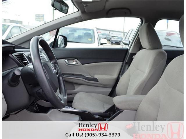 2013 Honda Civic LX BLUETOOTH HEATED SEATS (Stk: B0650) in St. Catharines - Image 6 of 13