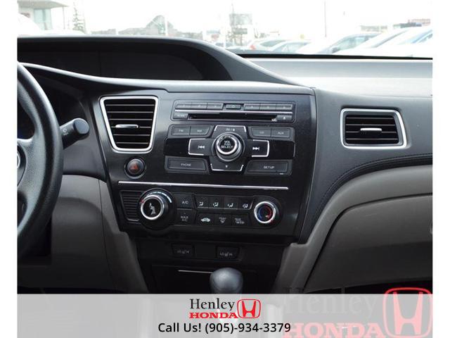 2013 Honda Civic LX BLUETOOTH HEATED SEATS (Stk: B0650) in St. Catharines - Image 9 of 13