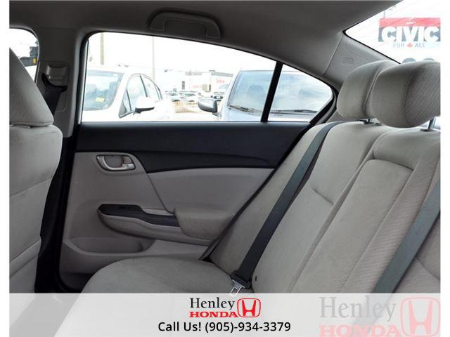 2013 Honda Civic LX BLUETOOTH HEATED SEATS (Stk: B0650) in St. Catharines - Image 12 of 13