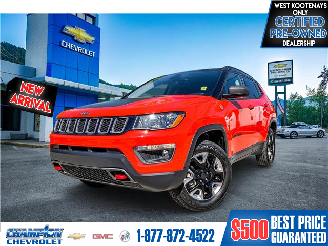 2018 Jeep Compass Trailhawk (Stk: P21-129) in Trail - Image 1 of 7