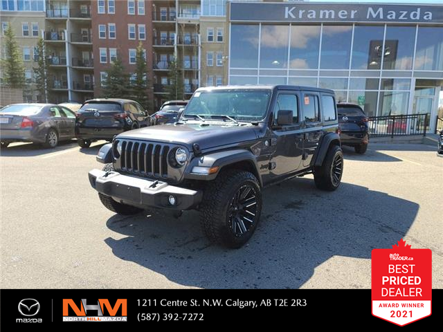 2019 Jeep Wrangler Unlimited Sport (Stk: K8248) in Calgary - Image 1 of 20
