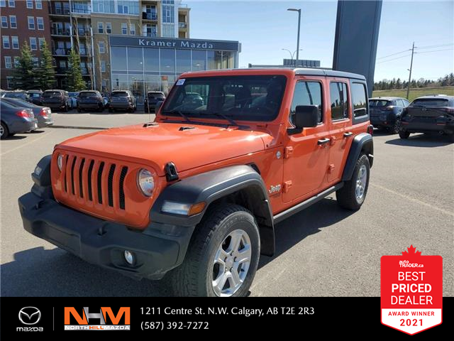 2018 Jeep Wrangler Unlimited Sport (Stk: K8254) in Calgary - Image 1 of 20