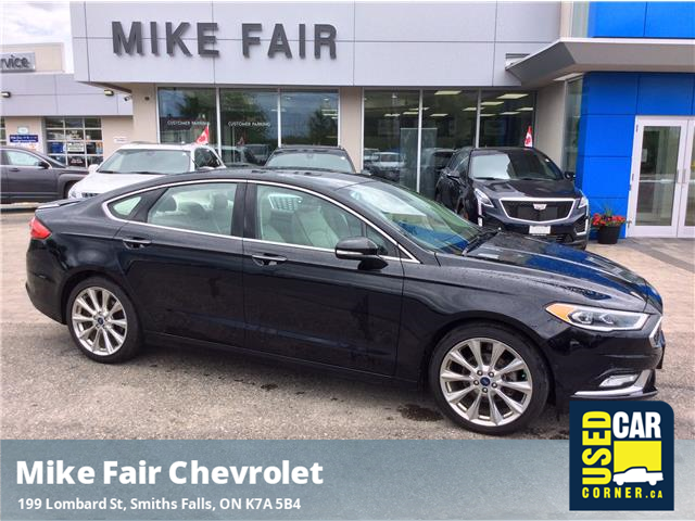 2017 Ford Fusion Titanium (Stk: 21083A) in Smiths Falls - Image 1 of 16