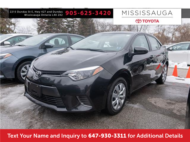 2016 Toyota Corolla LE (Stk: 19611) in Mississauga - Image 1 of 16