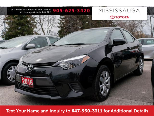 2016 Toyota Corolla LE (Stk: 19614) in Mississauga - Image 1 of 17