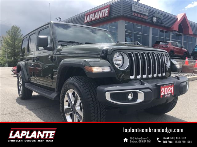 2021 Jeep Wrangler Unlimited Sahara (Stk: P21-17) in Embrun - Image 1 of 23
