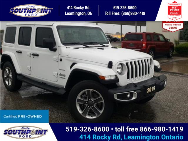 2019 Jeep Wrangler Unlimited Sahara (Stk: S10672R) in Leamington - Image 1 of 32