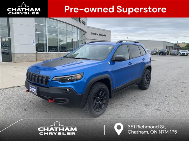 2021 Jeep Cherokee Trailhawk (Stk: U04839A) in Chatham - Image 1 of 26