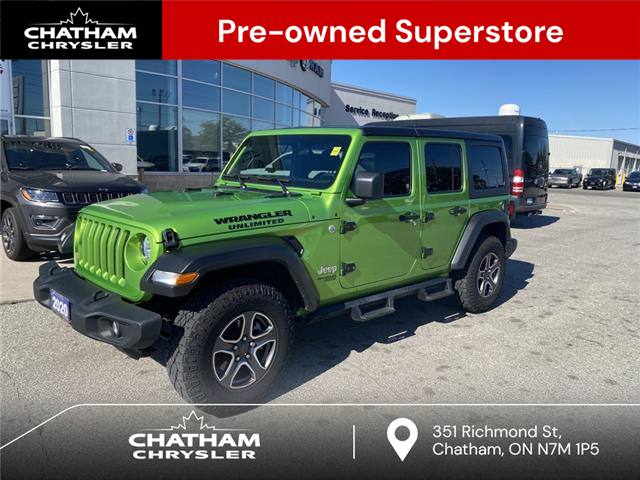 2020 Jeep Wrangler Unlimited Sport (Stk: N05143A) in Chatham - Image 1 of 21
