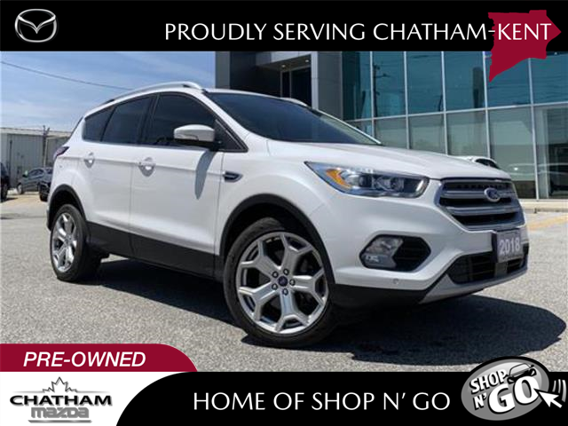 2018 Ford Escape Titanium (Stk: UM2616A) in Chatham - Image 1 of 28