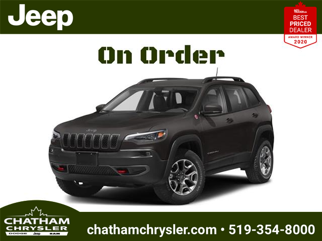 2021 Jeep Cherokee Trailhawk (Stk: ) in Chatham - Image 1 of 2