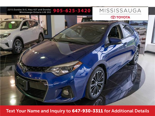 2015 Toyota Corolla S (Stk: J41176A) in Mississauga - Image 1 of 14