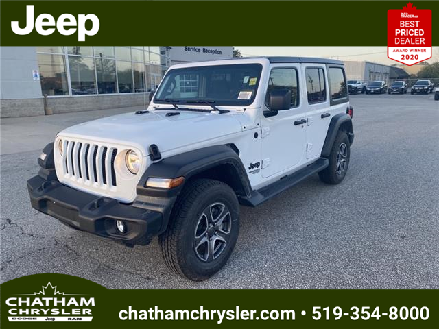 2021 Jeep Wrangler Unlimited Sport (Stk: N05198) in Chatham - Image 1 of 18