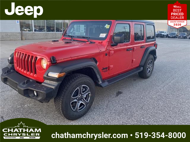 2021 Jeep Wrangler Unlimited Sport (Stk: N05199) in Chatham - Image 1 of 19