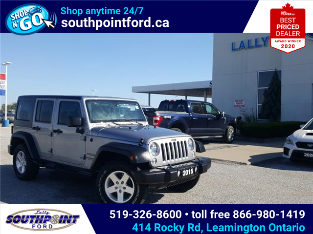 2015 Jeep Wrangler Unlimited Sport (Stk: S10715B) in Leamington - Image 1 of 20