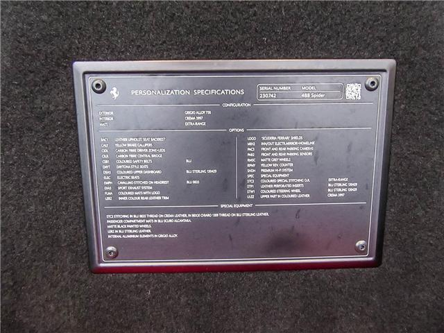 2018 Ferrari 488 Spider Base (Stk: U4177) in Vaughan - Image 16 of 24
