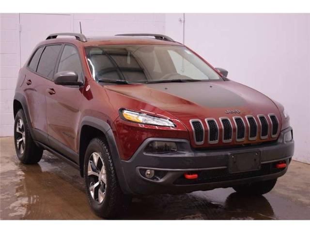 2018 Jeep Cherokee TRAILHAWK 4X4- BACKUP CAM * LEATHER * HEATED SEATS (Stk: B2770) in Napanee - Image 2 of 30