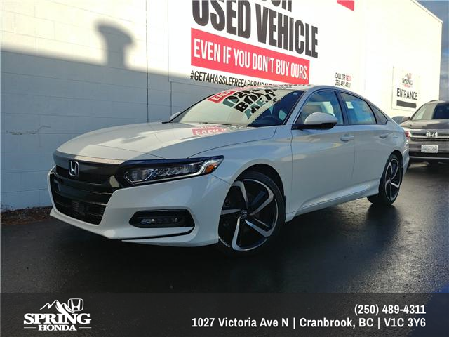 2019 Honda Accord Sport 2.0T (Stk: H00269) in North Cranbrook - Image 1 of 8