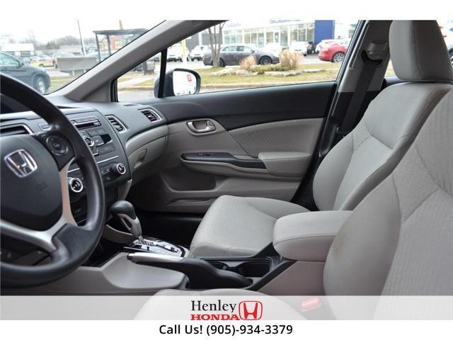 2015 Honda Civic LX BLUETOOTH HEATED SEATS (Stk: R9289) in St. Catharines - Image 8 of 25