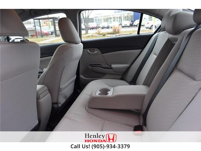 2015 Honda Civic LX BLUETOOTH HEATED SEATS (Stk: R9289) in St. Catharines - Image 10 of 25