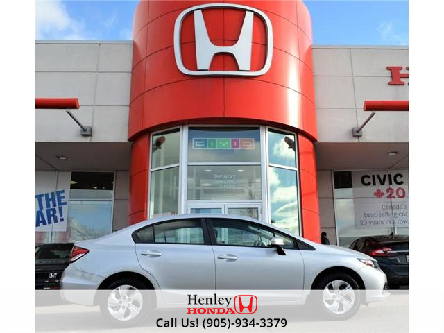 2015 Honda Civic LX 1 OWNER, NO ACCIDENTS, BLUETOOTH (Stk: R9292) in St. Catharines - Image 1 of 24