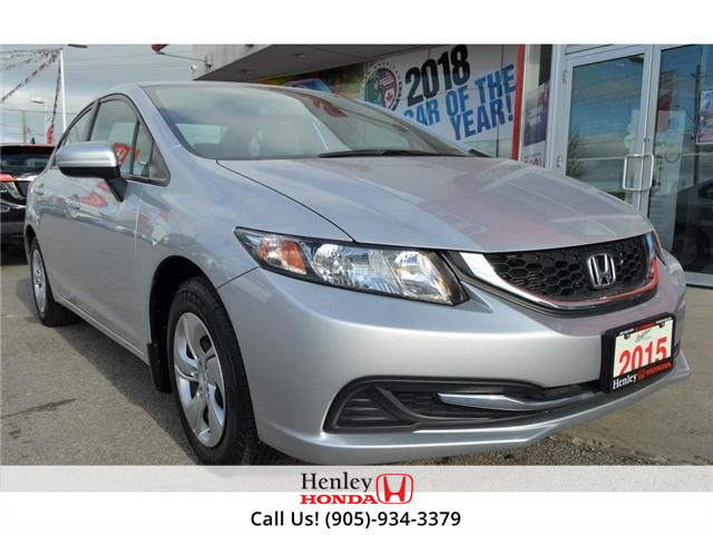 2015 Honda Civic LX 1 OWNER, NO ACCIDENTS, BLUETOOTH (Stk: R9292) in St. Catharines - Image 2 of 24