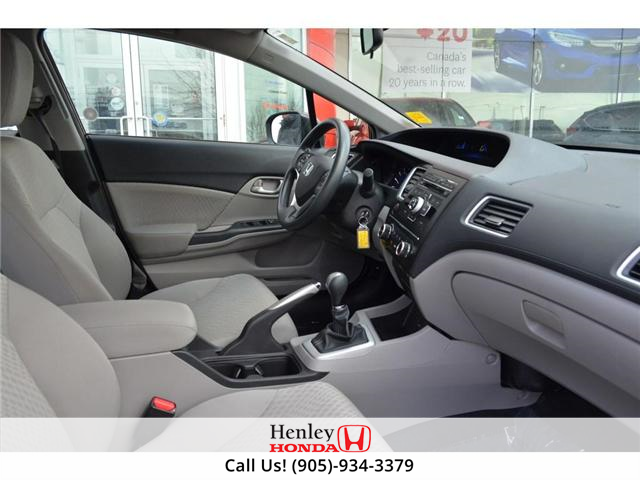 2015 Honda Civic LX BLUETOOTH HEATED SEATS BACK UP CAMERA. (Stk: B0817) in St. Catharines - Image 8 of 25