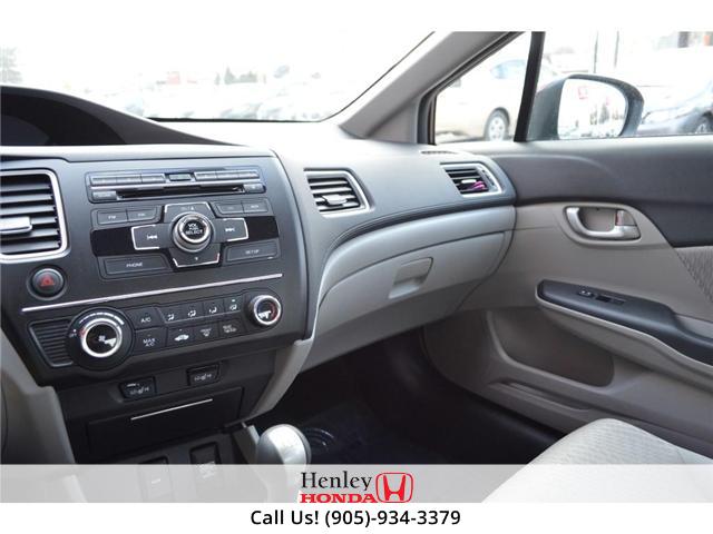 2015 Honda Civic LX BLUETOOTH HEATED SEATS BACK UP CAMERA. (Stk: B0817) in St. Catharines - Image 11 of 25
