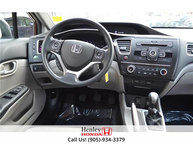 2015 Honda Civic LX BLUETOOTH HEATED SEATS BACK UP CAMERA. (Stk: B0817) in St. Catharines - Image 12 of 25