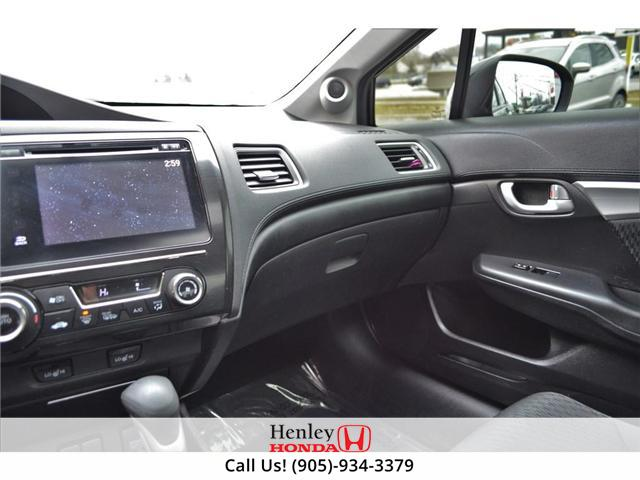 2015 Honda Civic EX SUNROOF ALLOY WHEELS BLUETOOTH HEATED SEATS (Stk: R9306) in St. Catharines - Image 8 of 22